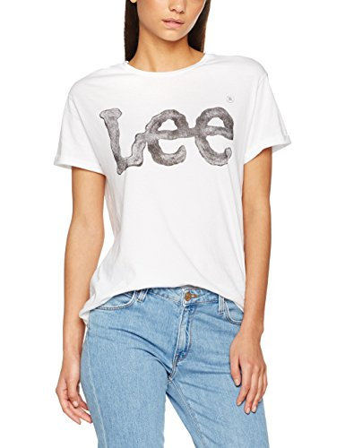 Lee Logo Tee, T-shirt Donna Bianco (White 12)