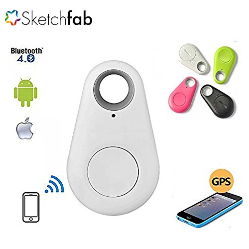 Sketchfab Wireless Bluetooth 4.0 Anti-lost Anti-Theft Alarm Device Tracker GPS Locator Key/Dog/Cat/Kids/Wallets Finder Tracer w/ Camera Remote Shutter & Recording for iPhone iPad & Android 4.0 Smartph