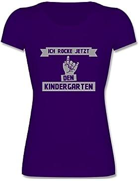 Kindergarten - Ich rocke jetzt den Kindergarten - Kinder Mädchen T Shirt leicht tailliert