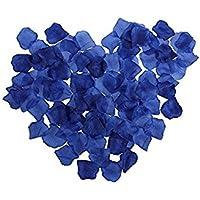 1000 Pcs Pétalos de Rosa en Seda, Flores Artificiales Románticas para Decoración Bodas Fiestas Confeti y Dia de San Valent, Color Azul oscuro