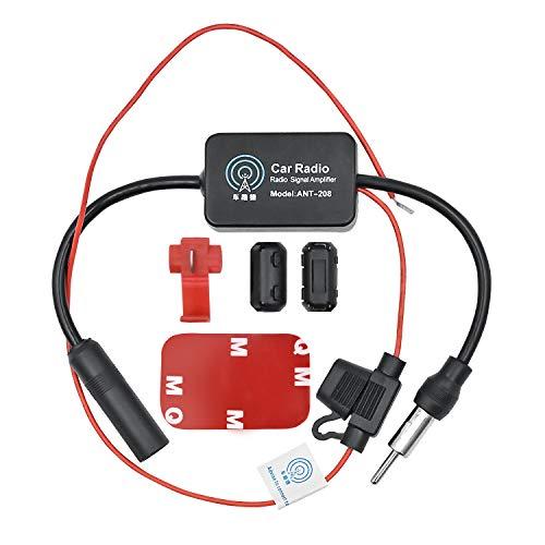 WEKON AUTO Auto Antennenverstärker 12-13dB Radio Antenne Signal Verstärker Verstärkung Audio Stereo FM AM für Fahrzeug KFZ Autoradio DC10~15V