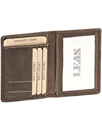 Porte-cartes Vintage-Style LEAS, cuir véritable, marrón - ''LEAS Vintage-Collection''