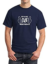 ITS MY 18th BIRTHDAY NAVY T SHIRT - VARIOUS SIZES AVAILABLE