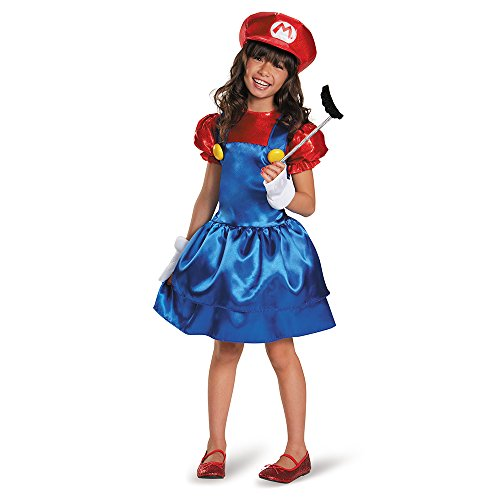 Nintendo Super Mario Bros Girl's Mario Costume Dress Large 10-12