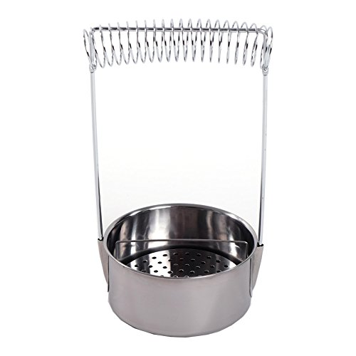 PINSELWASCHBEHÄLTER | 19 cm, Edelstahl, silber | Pinselwascher, Wasserbehälter
