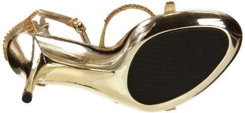 Unze Evening Sandals, Sandales femme Or (L18216W)