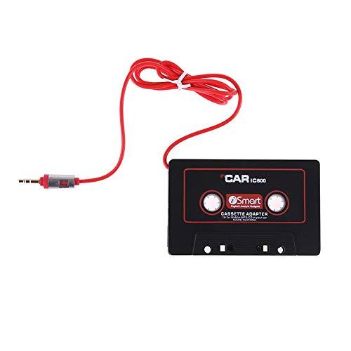 Auto Kassetten Adapter,Yigatech mit 3,5 mm Klinkenstecker Car Audio Cassette Adapter für iPod/iPhone/ MP3/ MP4/ Handys/Smartphones/Tablet-PCsr/CD-Player (Schwarz) Ipod Mp4 Converter