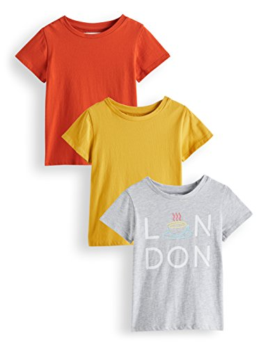 RED WAGON Girl's T-Shirt, Pack of 3