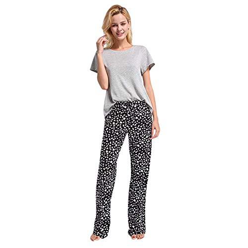 KDYZJK Women High Waist Wide Leg Pant Sport Leggings Womens Casual Stretch Cotton Pajama Pants Simple Sport Yoga Trousers (Pants Wide Leg Cotton)