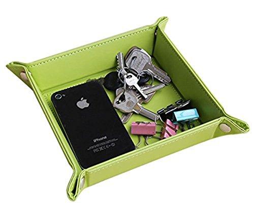 quadratisch Schreibtisch Schlüsseletui Medaille Tablett Box Grün (Legte Sich Auf Den Tisch)
