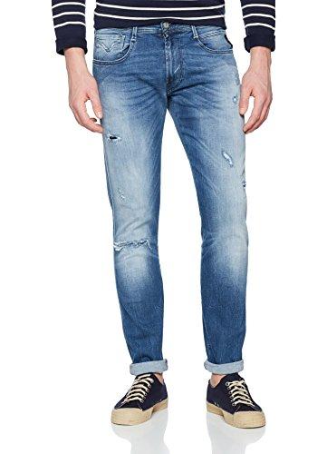 Replay Herren Slim Jeans Anbass, Blau (Light Blue 9), W36/L34 (Herstellergröße: 36)
