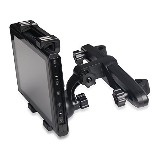 TUTUO Nintendo Switch Auto Halter Rotation Höhenverstellung Einstellbar Einfache Installation Portable für Tablet PC und Handys, iPad Pro, Samsung Tab, Galaxy S8, Huawei Honor und mehr (Schwarz)
