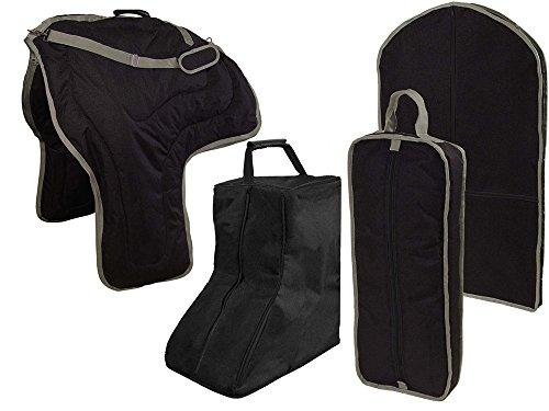 Tahoe Western Sattel, Zaumzeug, Garment & Boot Bag tragen Set, schwarz -