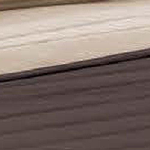 @ Italian Bed Linen Elegant Trapuntino matrimoniale 2 Posti, Marrone/Panna, 260 x 270 cm lista dei prezzi