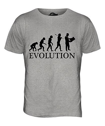 CandyMix Vermessung Landvermesser Evolution Des Menschen Herren T Shirt Grau Meliert