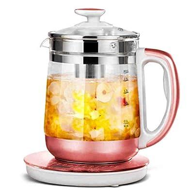 Bouilloire électrique en verre - Contrôle de la température d'ébullition de la bouilloire de thé à l'eau chaude de 1,8 L et maintien au chaud, avec 16 réglages de température réglables programmés