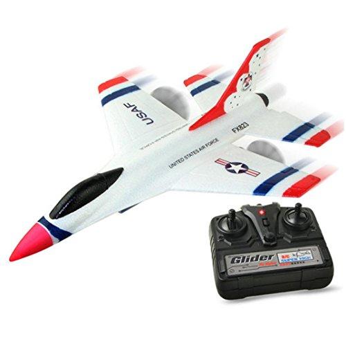 Fami-Aereo da diporto per aerei a distanza per il controllo remoto di alianti aerei 2.4G 2CH RC FX-823 (Bianca)