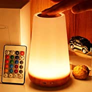 LED night light, TAIPOW bedside table lamp for baby kids room bedroom outdoor, dimmable eye caring desk lamp w