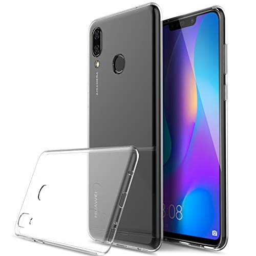 Kugi Funda Huawei P Smart Plus,Huawei P Smart Plus TPU Transparente Slim Silicona Case Cover [Anti-Arañazos] para Huawei P Smart Plus(Transparente)