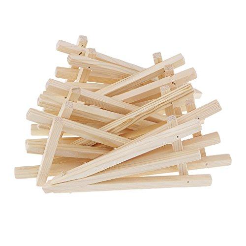 Sharplace 10 Stück Mini Holz Stativ Staffelei Display Malerei Stand Karte Leinwand Halter