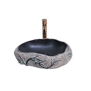 Bathtub LUYIASI- Cuarto de baño del Lavabo de la Piedra Cuarto de baño Ideas del tocador sobre Lavabo del Lavabo de la…