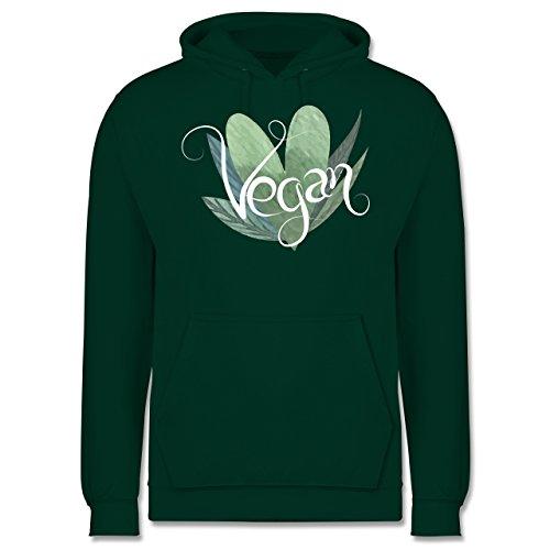 Statement Shirts - Vegan Lettering - Männer Premium Kapuzenpullover / Hoodie Dunkelgrün
