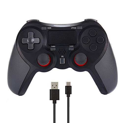 CuleedTEK PS4 Wireless Controller Bluetooth Rechargeable Game Controller for PS4/PS4 Pro/PS4 Slim, with Dual Vibration, Touch Pad, Light Bar & 3.5mm Audio Jack (Third-Party Product) (Black)