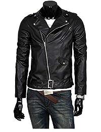 Wushiyoa Herren Belted Biker Jacke In Leder Motorrad Lederjacke Männer Moto  Outwear Herbst Revers Kragen Faux 23e8bd77bc