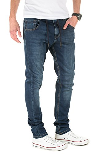 Yazubi Herren Sweathose in Jeansoptik Steve - Jogginghose in Jeans-Look dress blues (4024)