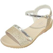 Angelof Sandales Sandales Femmes, Compensees Femme Sandales Plates Strass Sandales Corde Plage Ete Chaussures Paillettes AntidéRapant