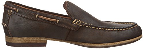 FRYE Mens Henry Venetian Boat Shoe Dark Brown