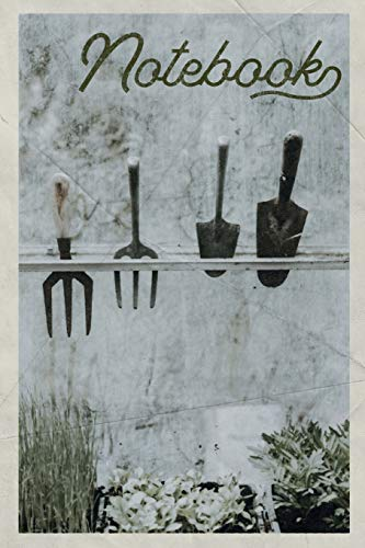 Garden Fencing Designs (Notebook: Gardening Tools for Seniors Handy Composition Book Journal Diary for Men, Women, Teen & Kids Vintage Retro Design for community helper gardener)