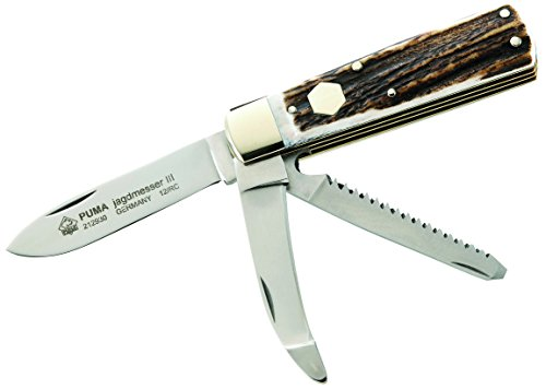 PUMA Jagd-Taschenmesser, Aufbrechklinge, Back-Lock Messer, Mehrfarbig, One Size