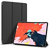 """Cazcase New IPad Pro 11"""" 2018 Case, Translucent Back Stand Smart Cover(Does Not Support Pencil Charging) Auto Sleep Wake Folio Lightweight Protective Cover For Apple IPad Pro 11"""", Black"""
