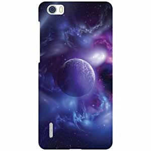 Via flowers Back Cover For Huawei Honor 6 Blue Multi Color
