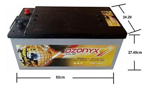 Batería solar 12v ciclo profundo AGM 250Ah Solar Fotovoltaica