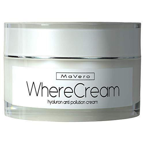 MaVero WhereCream - Hyaluron + Q10 Creme, Gesichtscreme für Männer-Damen, Feuchtigkeitscreme, Gesichtspflege, Anti-Aging, Collagen-Aufbau, reine Haut, Panthenol, Glycerin, Urea ∙MADE IN GERMANY