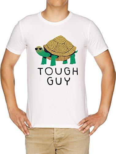 Tough Guy Herren T-Shirt Weiß