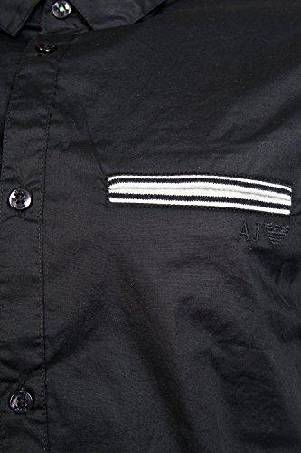 Armani Jeans A6C76blu a maniche corte extra slim camicia Blue