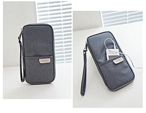 185c9f4942 passaporto portafoglio da viaggio borsa durevole borsa portaoggetti ...