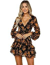 Donna Fiori Vestiti Amazon Abbigliamento it wOSypZ