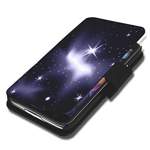 Book Style Handy Tasche - Design G4 - für LG L Bello - Cover Case Schutz Hülle Etui Schutzhülle - (Bulk)