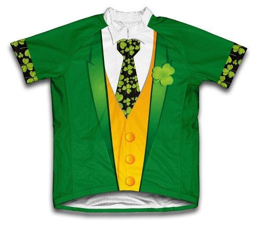 Iris Tuxedo St. patrick' S DAY a maniche corte da ciclismo per uomo, Donna uomo, Maglia a maniche corte per ciclismo, Green, XXXXL