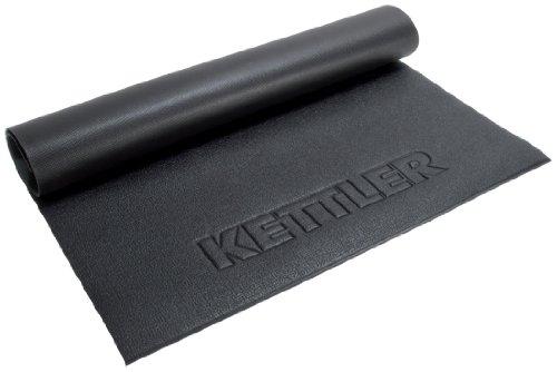 Kettler Bodenschutzmatte - Unterlegmatte für Fitnessgeräte, wie Crosstrainer, Stepper und Co. - Gummimatte zum Schutz des Bodens und zur Geräuschdämmung - schwarz