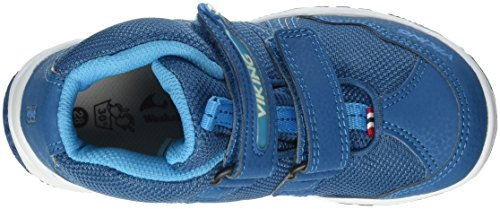 Viking Woodpecker Mid, chaussures avec fermeture scratch mixte enfant Bleu - Blau (PETROL/BLUE 5535)