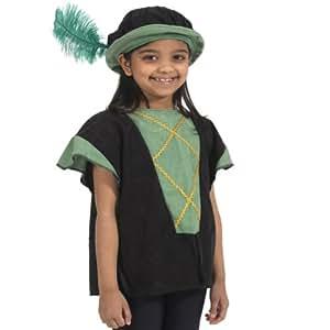 Déguisement tunique verte et noire (tabard) pour enfant taille unique