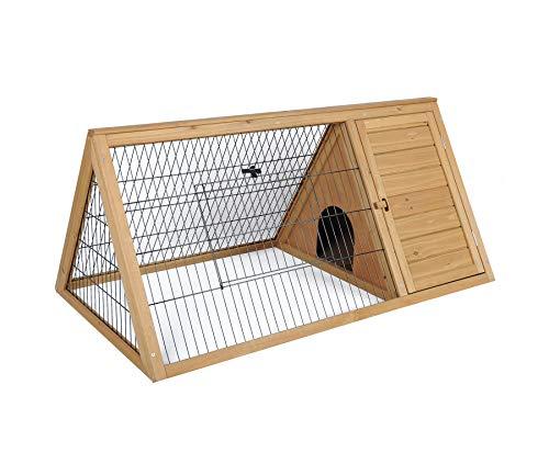 Elightry conigliera da giardino gabbia per roditore nido per conigli criceto cagnolino in legno di abete ydtl0003