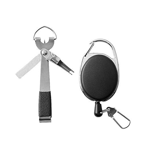 Symboat Fishing Quick Knot Tool Fly Fishing Clippers Line Nipper Tying with Zinger -