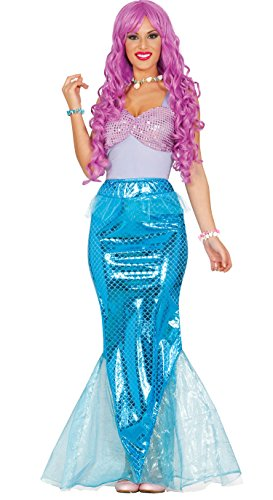 Guirca–Kostüm Erwachsene Sirene, Größe -