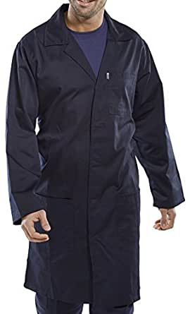 "Navy Warehouse Coat / Hygiene (Chest size - 36"" (92cm))"